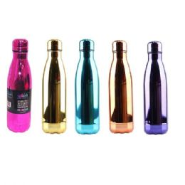 24 Bulk Stainless Steel Double Walled Chrome Edition Water Bottle Cup