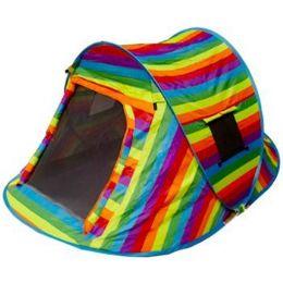 2 Bulk Rainbow Pop Up Camping Tent