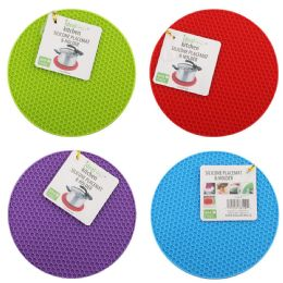 96 Bulk Silicone Place Mat And Holder