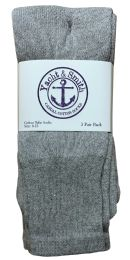 36 Bulk Yacht & Smith Women's Cotton Tube Socks, Referee Style, Size 9-15 Solid Gray 28Inch