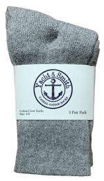 60 Bulk Yacht & Smith Kids Cotton Crew Socks Gray Size 4-6