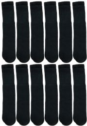 1200 Bulk Yacht & Smith 28 Inch Men's Long Tube Socks, Black Cotton Tube Socks Size 10-13