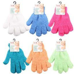 96 Bulk Luxury Shower Exfoliate Scrubbing Glove