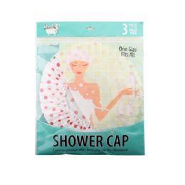 96 Bulk 3 Pack Shower Cap