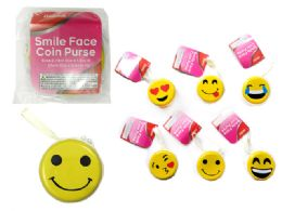 144 Bulk Coin Purse, Smiley Face