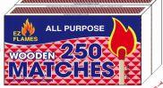96 Bulk 2 Pack 250 Count Wooden Matches