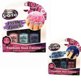 48 Bulk 3pk Shimmer & Sparkle Nail Polish