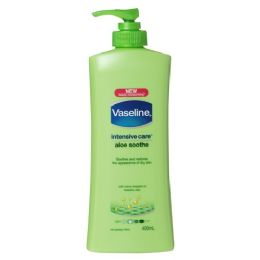 60 Bulk Vaseline Aloe Soothe Pump Body Lotion Shipped By Pallet