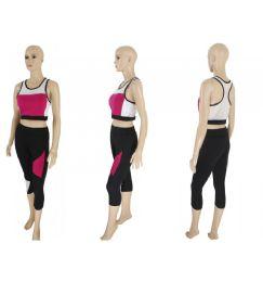 60 Bulk Womens 2 Piece Active Wear Set