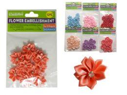 288 Bulk 6 Asst Colors 12 Pc Flower Embellishments