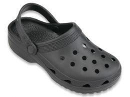 48 Bulk Men's Garden Shoes In Black