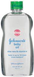 240 Bulk Johnson's Aloe Baby Oil Shipped By Pallet