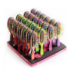 96 Bulk Beauty Hair Rainbow Brush Rack