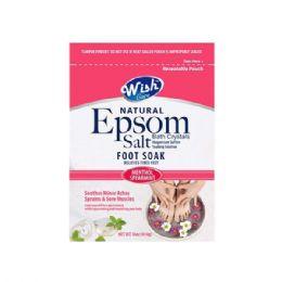 72 Bulk Wish 16 Oz Menthol Spearmint Epsom Salt Foot Soak