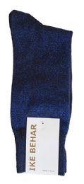 36 Bulk Ike Behar Men's Designer Glitter Dress Socks, Tuxedo Socks , Fits Shoe Sizes 7-12 Black Navy Sparkle
