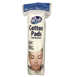 96 Bulk Wish 100 Count Round Cotton Pad