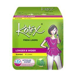 48 Bulk 8 Piece Kotex Wider Panty Liner
