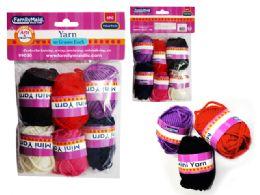 96 Bulk 6 Pc Mini Yarn In Asst Colors