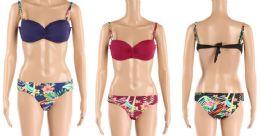 24 Bulk Womens 2 Piece Floral Bathing Suite Assorted Colors