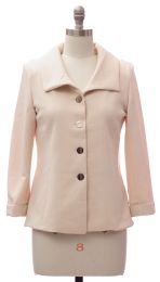 12 Bulk Wide Collar Car Blazer Cream