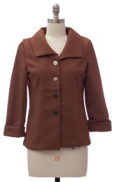 12 Bulk Wide Collar Car Blazer Brown