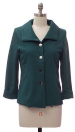 12 Bulk Wide Collar Car Blazer Hunter Green