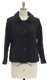 12 Bulk Cropped Car Blazer Black
