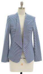 12 Bulk Open Front Stripe Blazer Blue
