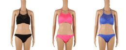 24 Bulk Womans Assorted Color Bathing Suit With Adjustable Strap
