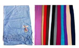 60 Bulk Unisex Cashmere Scarfs Assorted Colors