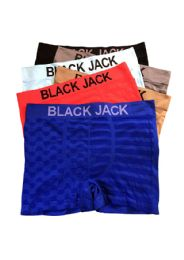48 Bulk Blackjack Men's Seamless Boxer Brief