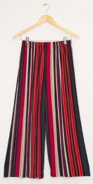 12 Bulk Stripe Coulottes Multi Color Red