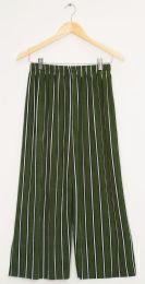 12 Bulk Stripe Coulottes Multi Color Hunter Green