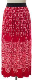 12 Bulk Printed Skirt Red