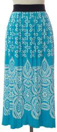 12 Bulk Printed Skirt Torquoise