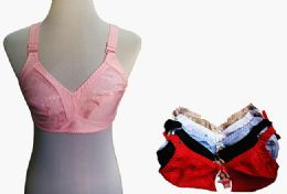 60 Bulk Womens Unlined Bras Assorted Colors With Adjustable Straps