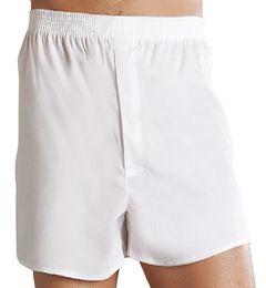 36 Bulk Men's 12 Pack White Cotton Boxer Shorts, Size Small