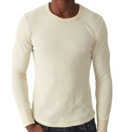 36 Bulk Men's Natural Color Thermal Underwear Top , Size Small