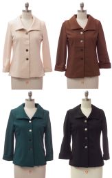 24 Bulk Wide Collar Car Blazer Assorted