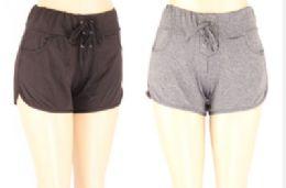 72 Bulk Womens Assorted Color Shorts