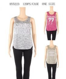 120 Bulk Womens Printed Golden Goodies Tank Top