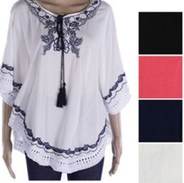 144 Bulk Womens Fashion Summer Top With Tassel
