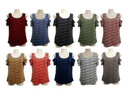48 Bulk Womens Assorted Color Tee