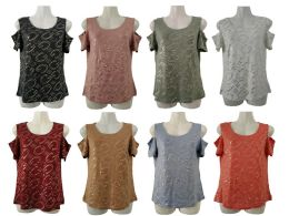 48 Bulk Womens Assorted Color G Tee