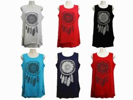 48 Bulk Womens Assorted Color Tank Top