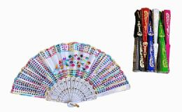 120 Bulk Plastic Handheld Party Fan Assorted Styles