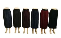 48 Bulk Women Pleated A Line Midi Skirt