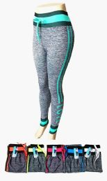 48 Bulk Womens High Rise Slim Fitted Draw String Jogger Pants With Comfortable Stretch