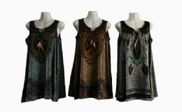 48 Bulk Womens Fashion Tank Top Assorted Color With Tassel