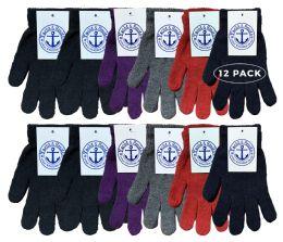 12 Bulk Yacht & Smith Women's Warm And Stretchy Winter Magic Gloves
